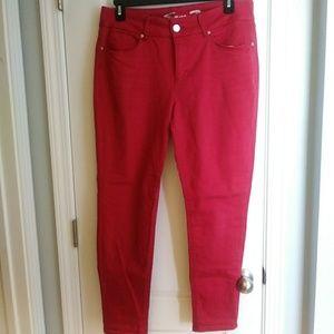 Seven7 red jeans tummyless skinny 16